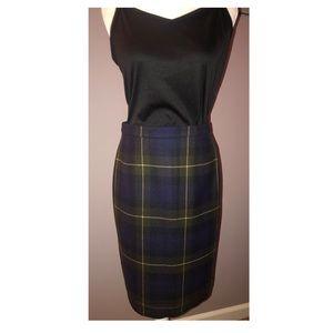 Escada Wool Plaid Skirt